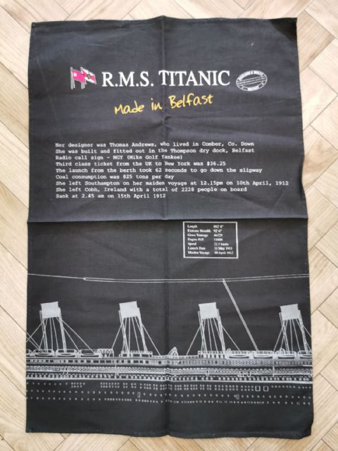 Titantic - Made in Belfast - Tea Towel